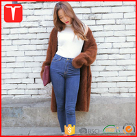 Women knitted mink cashmere sweater