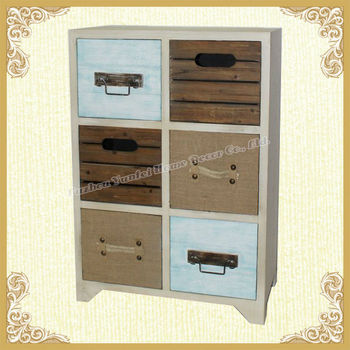 Shabby chic vintage home file cabinet