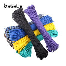 GEGEDA wholesale cheap nylon Paracord survival 550 100ft rope Paracord parachute cord lanyard for climbing outdoor equipment