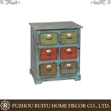 New china OEM products french vintage furniture drawers rustic style cabinet