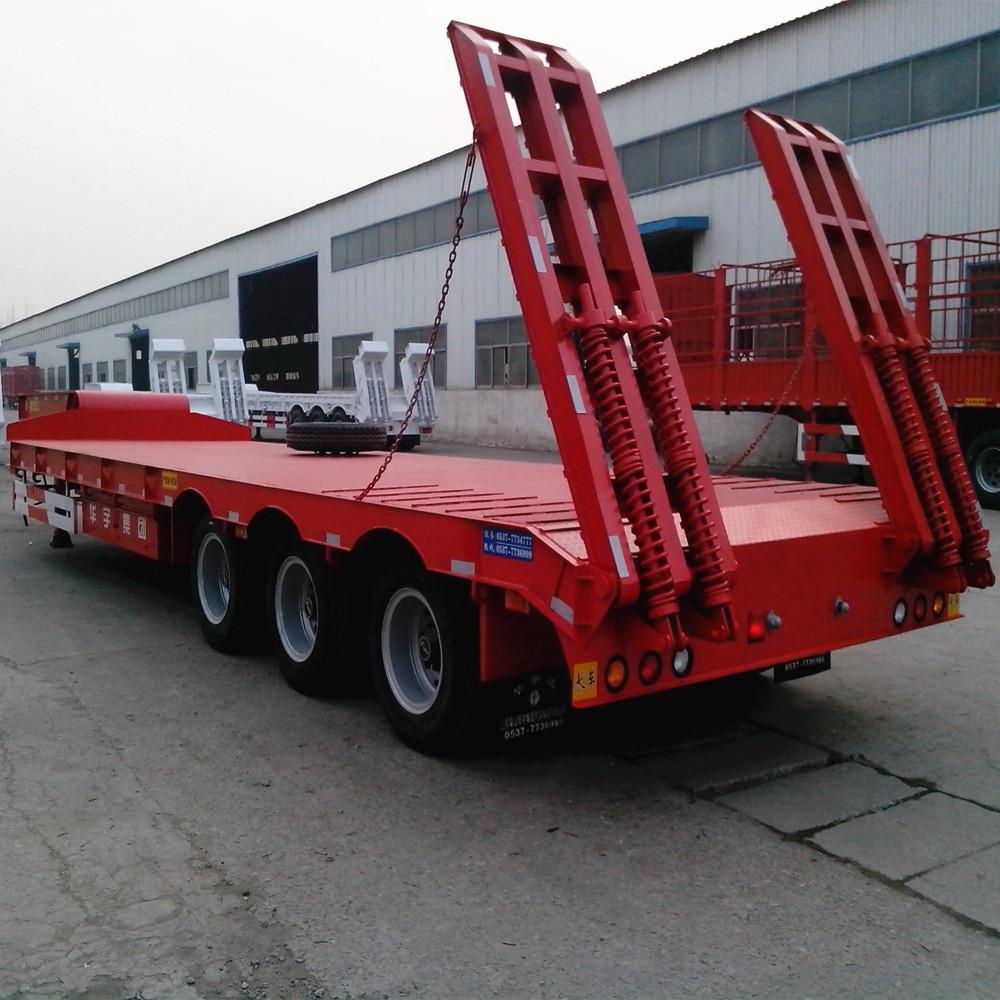 3 Axle Rv : Axle lowboy semi trailer lowbed