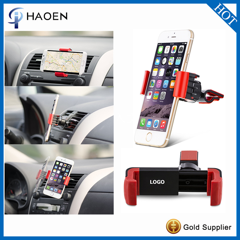 Best promotion gift small phone clip holder mini car air vent cradle mount phone holder
