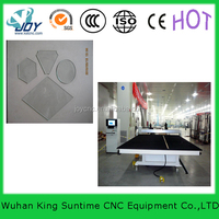 cnc glass cutting machine made clothes wardrobe glass doors China sale