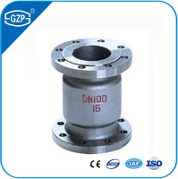 GZP brand ANSI Carbon Steel vertical lift Check Valves with flanged end