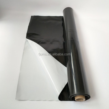 UV Stabilized black and white poly film for hydroponics Poly Panda Film