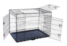 cheap large strong 3 doors stainless steel iron dog cage