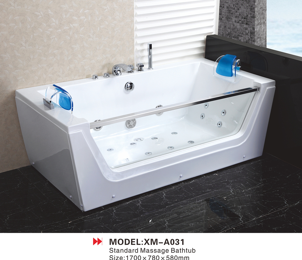 double whirlpool couple apollo massage bathtub with side glass
