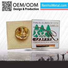 China supplier High end souvenir metal how to wear a lapel pin