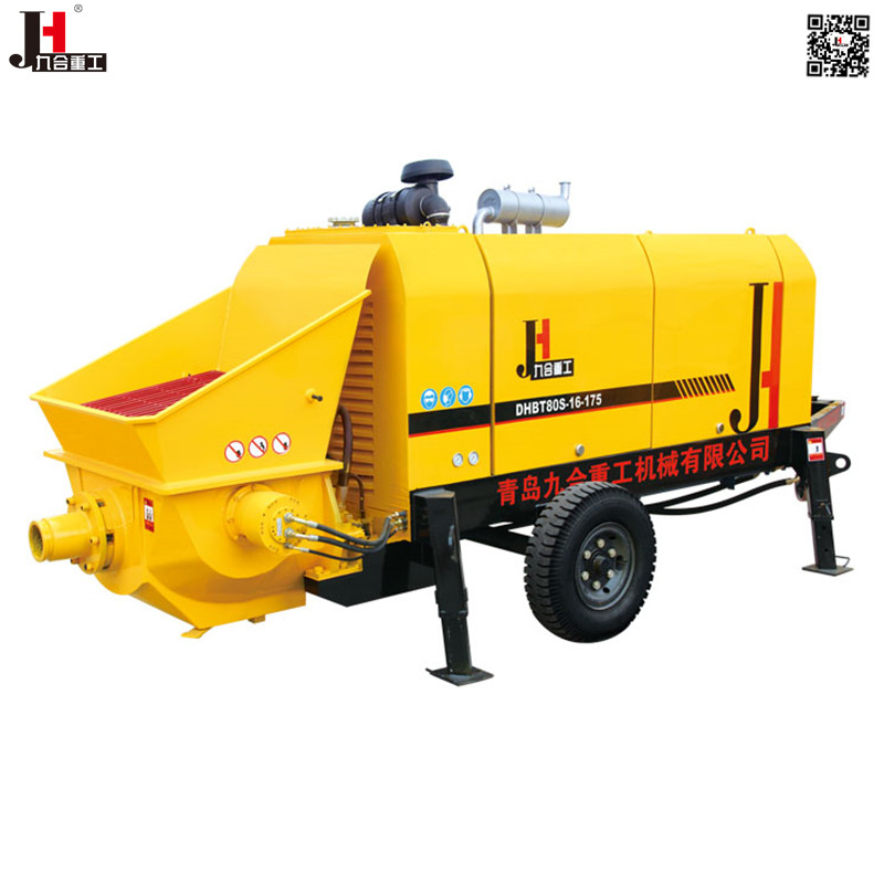 China concrete manufacture hot sale mobile stationary diesel concrete pump trailer with original DEUTZ <strong>engine</strong>