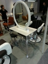 Double sides modern cheap salon hair styling cosmetic hairdressing mirror stations
