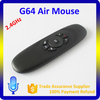 G64 QWERTY keyboard Rechargeable 2.4Ghz Air Mouse for Android TV Box, Smart TV,Gamepad & PC
