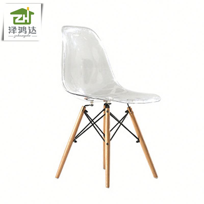 new arrival hot selling PC transparent design plastic chair emes restaurant leisure chair