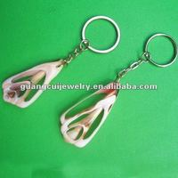 fashion keyring engraved sea shell key chains key ring poker chip keychain with coin holder