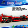 3 lines 6 axles roll trailer with lower flatbed loading deck and of 120T loading capacity