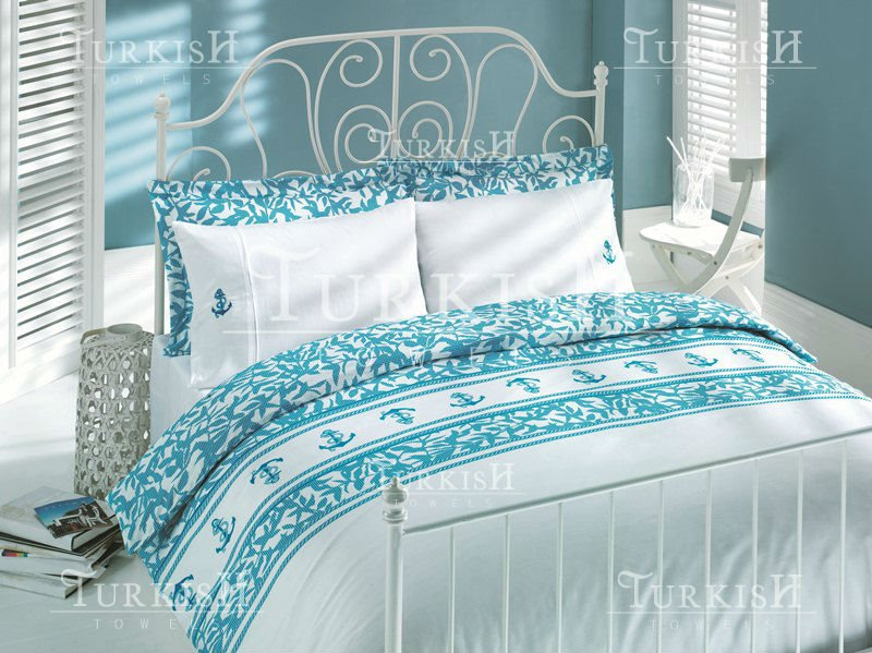 sateen bed linen with bothsides printed