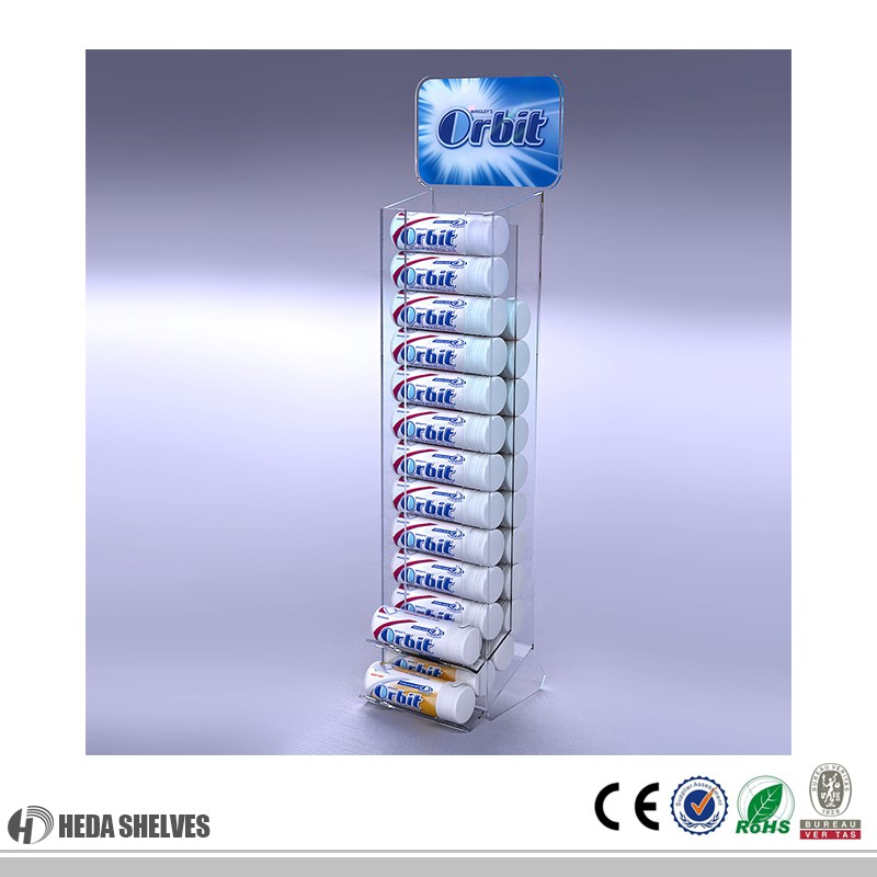 Guangdong good quality factory price acrylic display shelf display stand/case