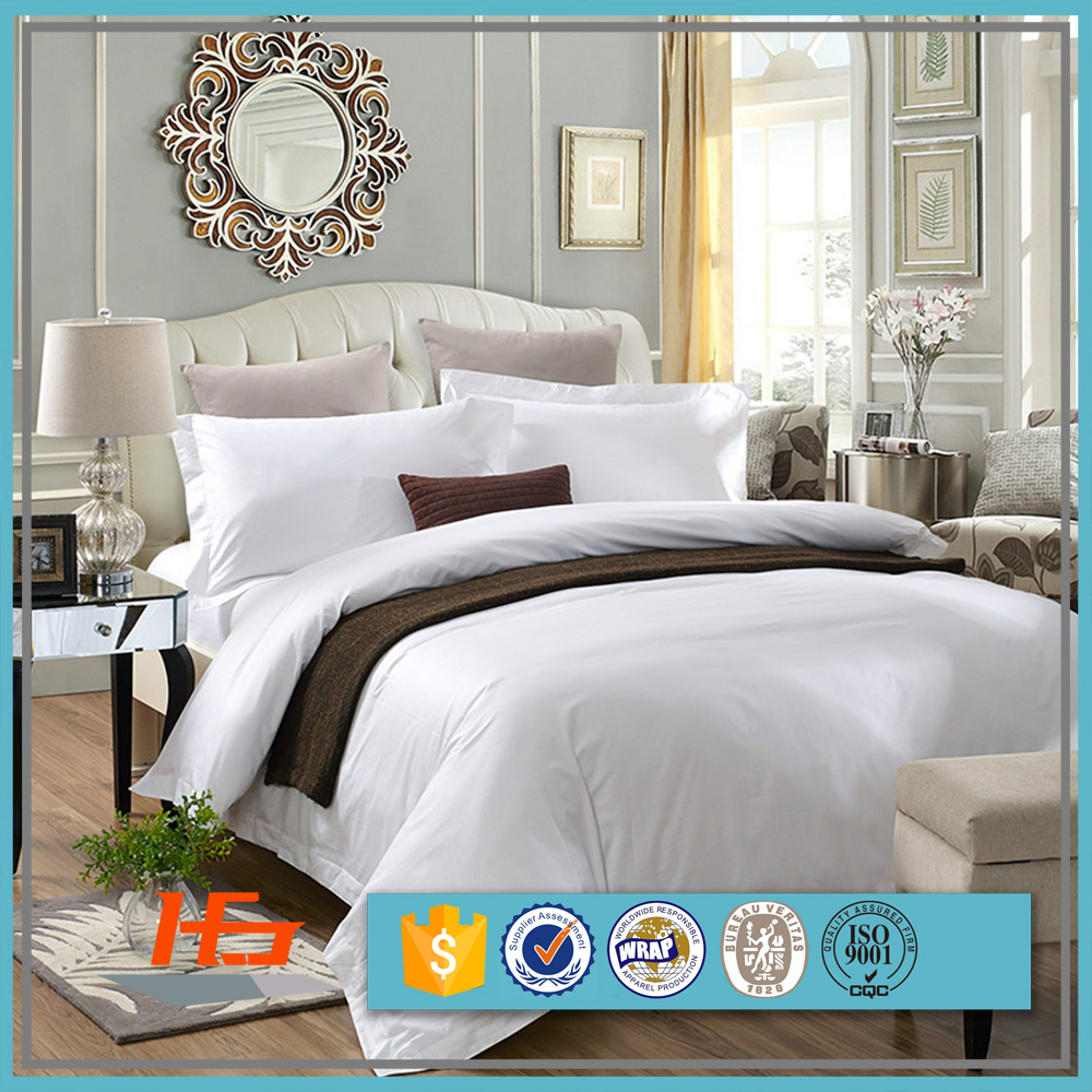 Cotton Percale Hotel Full Size Bedding Set in 5 Star Quality