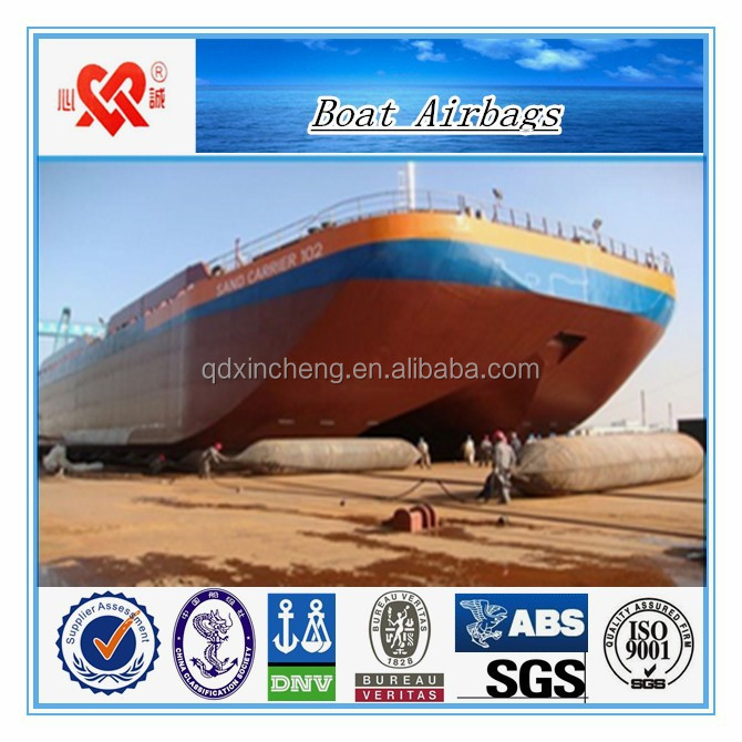 boat launching airbag floating pontoon ship salvage airbag