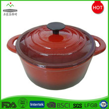 Popular cast iron red enamel cookware set