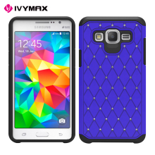 Spot Diamond Studded Bling Crystal Rhinestone Dual Layer Hybrid Cover Hard PC Case For samsung galaxy G5500/G550/On5