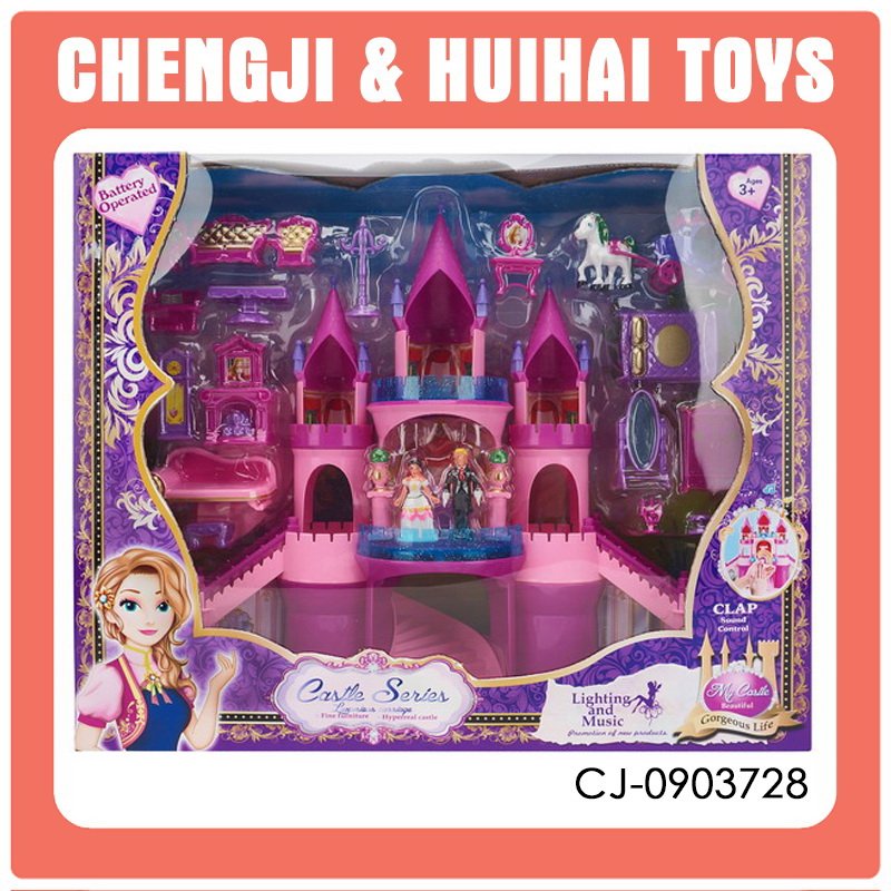 Musical and lighted princess castles toy castles for boys