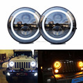 7 inch 40w round h-arley , truck and motorcycle,J-EEP headlight with angle eye & DRL