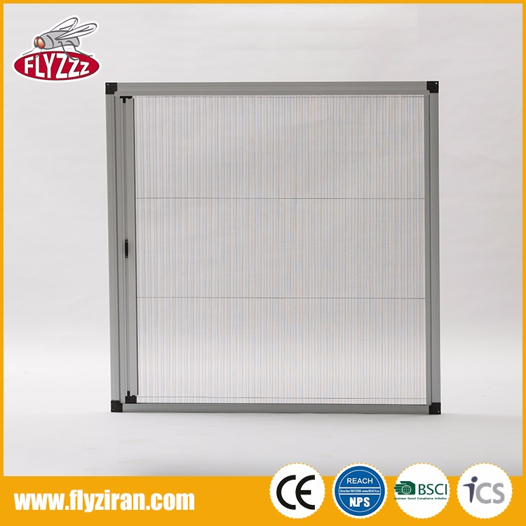 Factory price easy install window custom size folding plisse fly screen