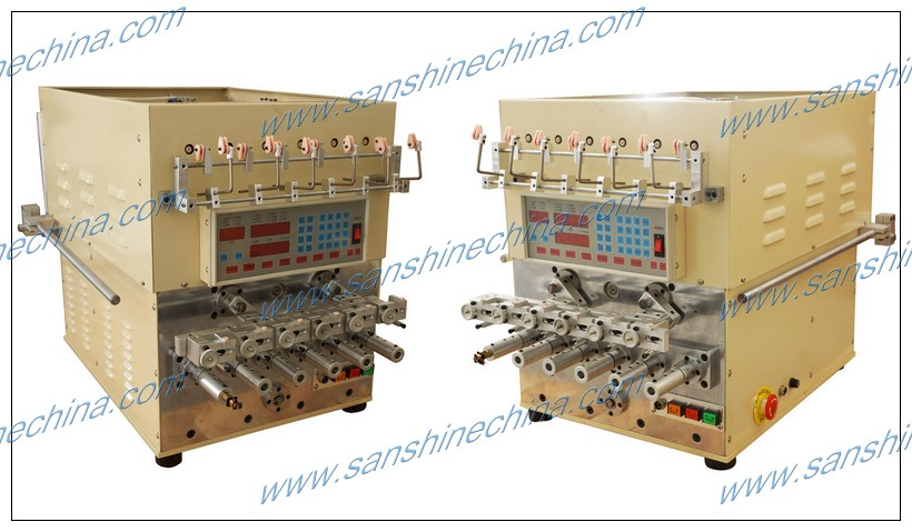 SS966T 6 spindles automatic fine wire twisting transformer coil winding machine