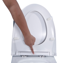 V shape urea WC toilet seat cover with soft close and quick release hinge made in China U002