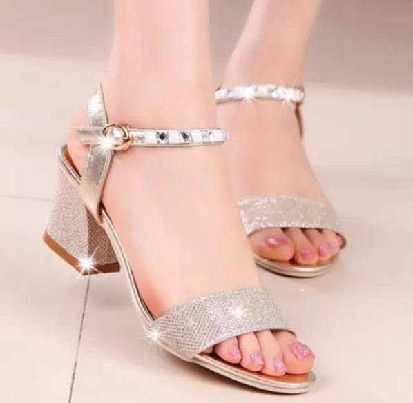Creative Brand Design Women Sandals 2015 Fashion Square High Heels Open Toe