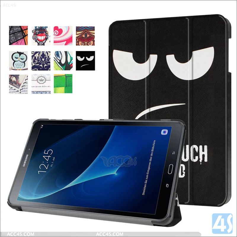 Cartoon image cool picture pu leather flip cover for samsung galaxy tab A 10.1 T580