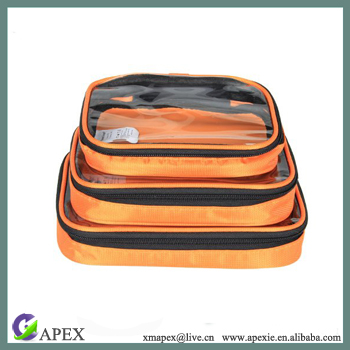 Travel Carry Cases Electronic Organizer Clear 3pcs set