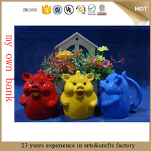 cheap ceramic piggy bank for promotion