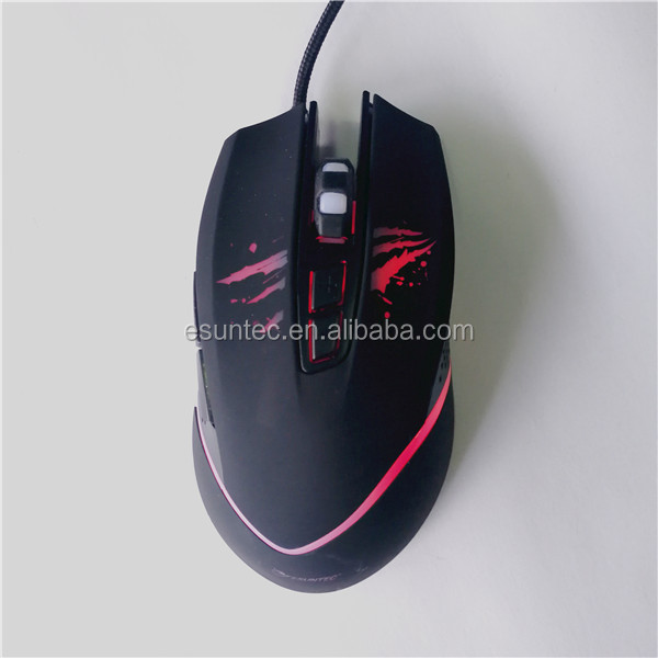 2018 Factory Hot Selling Private Optical USB 7D Gaming Mouse GM-177