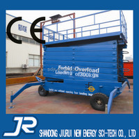 Four- Wheel Mobile Motorized Lifting Platform