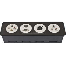 Electrical Wall Outlets/Aluminum Panel Mounted Socket/Advanced Hotel Media Hub Plate