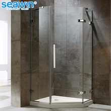 Good Price Fashion Standard Size Fully Frameless Glass Design Hinge Shower Cubicle For Gym