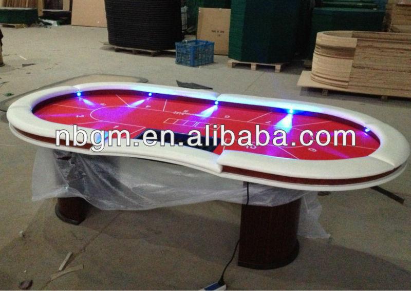 84 x 42 polegada led table de poker avec jambe de bois. Black Bedroom Furniture Sets. Home Design Ideas