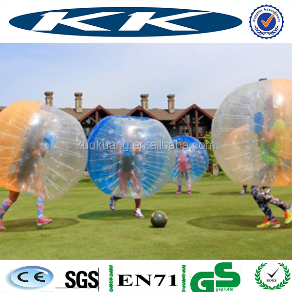 half of orange color inflatable knocker ball with quality harness from Chinese supplier