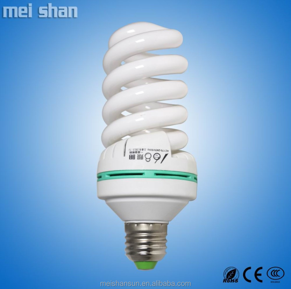 36W CFL 4-circuit full spiral e27 energy saving light zhongshan factory