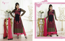 Colorful Salwars Semi-stitched Suits