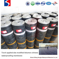 Torch applied sbs modified bitumen chinese waterproofing membrane