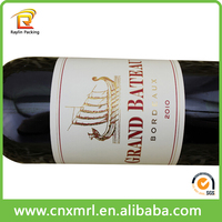 Roll Custom Printed Self Adhesive Red Wine Bottle Neck Label, Wine Sticker Printing