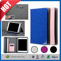 C&T New arrival fashion style pu leather wallet flip case for ipad pro