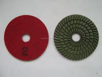 4inch 3 Step Diamond wet discs for marble polishing