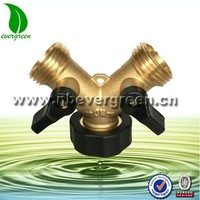 "3/4"" 3 way elbow pipe fittings Garden Brass Hose Splitter"