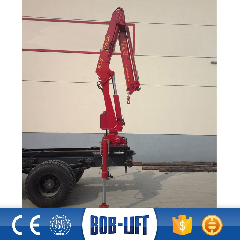 Hydraulic Telescopic Boom Truck Mounted Crane with Cable Winch