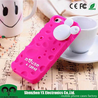 Mickey Mouse cheese 3d cute silicone phone case for iphone 4s