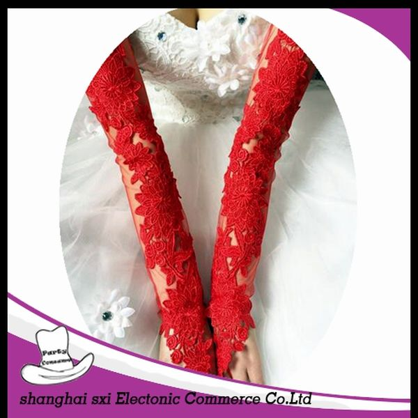 Various styles new arrival in stock ivory wedding gloves fingerless