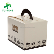 yiwu manufacture custom printing cheap bakery shop coating paper single cupcake handle box fast takeaway box for food
